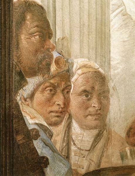 Tiepolo Palazzo Labia The Banquet of Cleopatra detail4